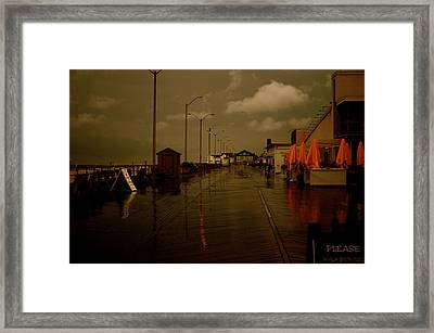 Empty In Asbury Framed Print by Joe  Burns