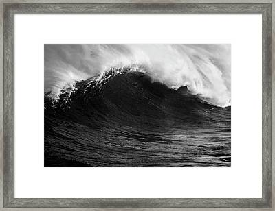 Framed Print featuring the photograph Empty Jaws Black And White by Brad Scott