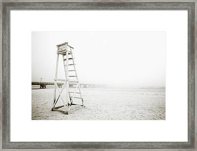 Empty Life Guard Tower 1 Framed Print by Skip Nall