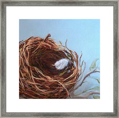 Empty Nest Framed Print
