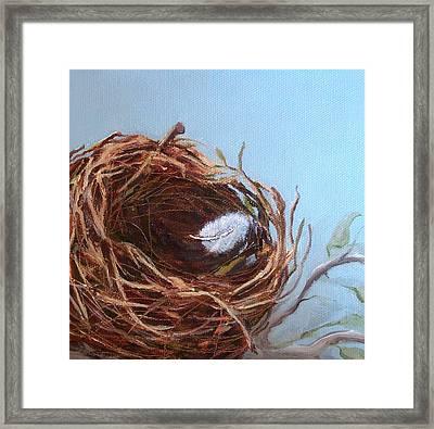 Empty Nest Framed Print by Irene Corey