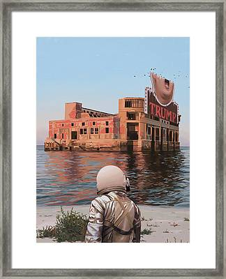 Framed Print featuring the painting Empty Palace by Scott Listfield