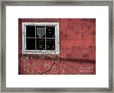 Empty Panes In A Rustic Barn Framed Print