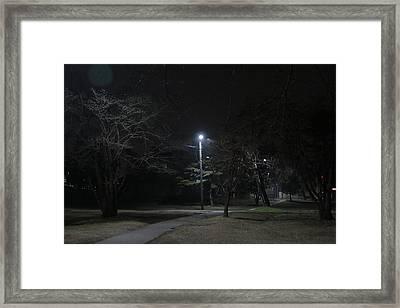 Empty Park Framed Print