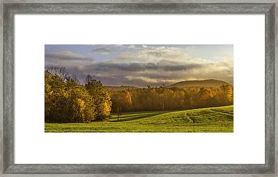Empty Pasture - Cows Needed Framed Print