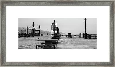 Empty Pier Framed Print