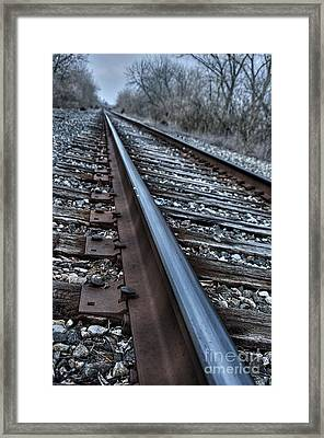 Empty Railroad Tracks Framed Print by J M Lister