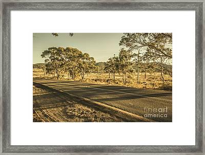 Empty Regional Australia Road Framed Print