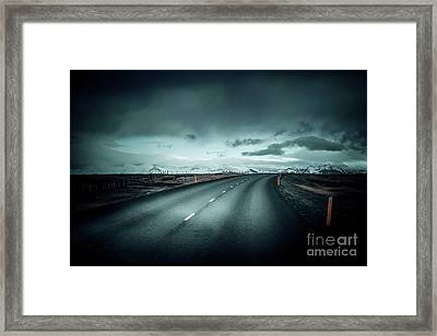 Empty Road Framed Print by Svetlana Sewell