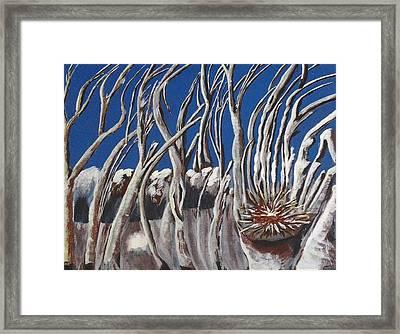 Empty Scary Woods Framed Print by Tonya Merrick