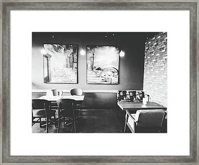 Empty Seat In Coffee Shop. Framed Print by Sirikorn Techatraibhop