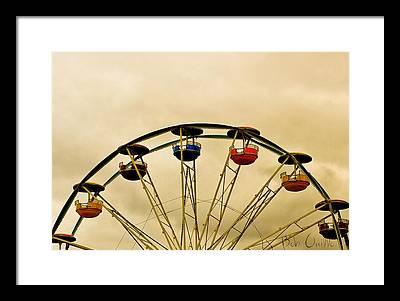 Amusement Park Ride Framed Prints
