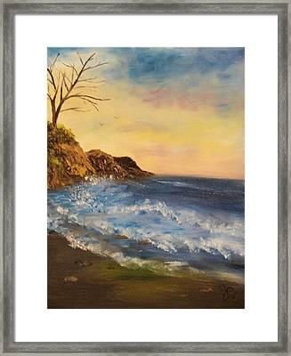 Empty Shore Framed Print by Shiana Canatella