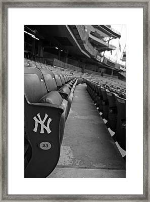 Empty Stadium Framed Print by Michael Albright