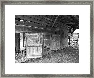 Empty Stalls Framed Print