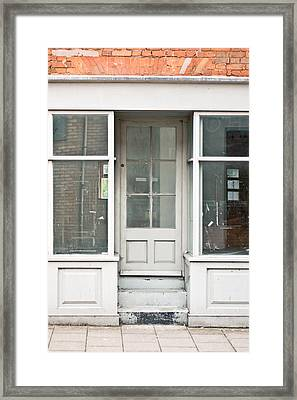 Empty Store Framed Print