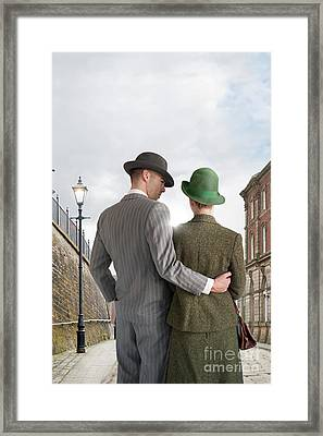Empty Street With Victorian Buildings Framed Print