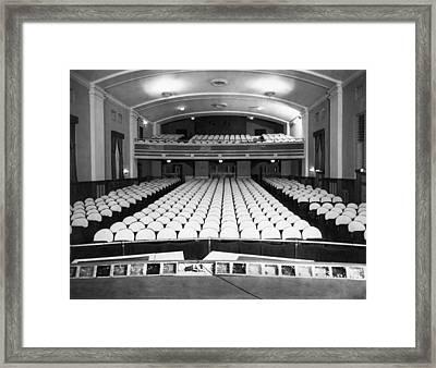 Empty Theater Interior Framed Print