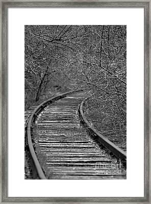 Empty Tracks Framed Print