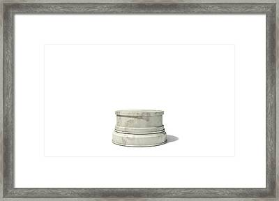 Empty Trophy Base Framed Print