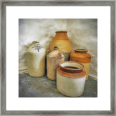 Empty Vessels Framed Print by Tony Crehan