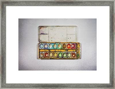 Empty Watercolor Paint Trays Framed Print