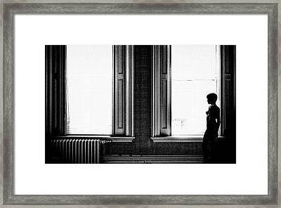 Empty Windows Framed Print
