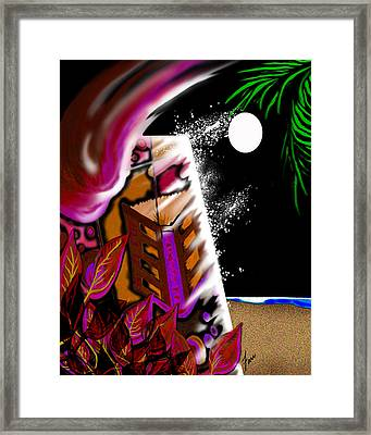Emptynightonmoondustedoasis Framed Print