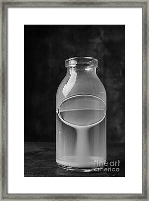 Empy Milk Bottle 2 Framed Print by Edward Fielding