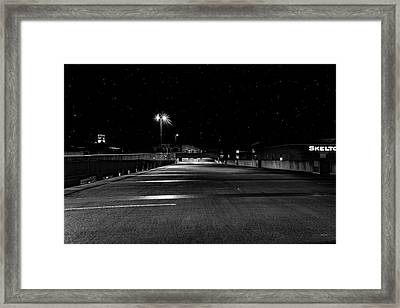 Empy Spaces And Night Sky Framed Print by Bob Orsillo