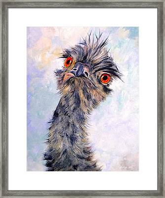 Emu Twister Framed Print
