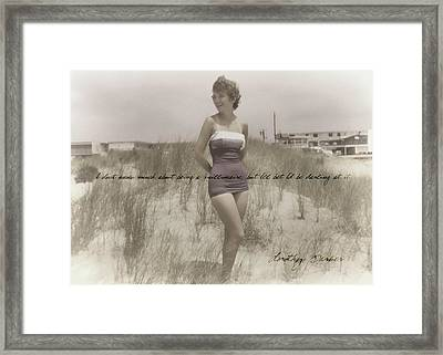 Emulating Marilyn Quote Framed Print by JAMART Photography