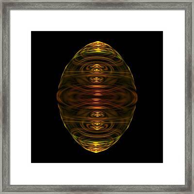 Emulsion I Fractal Framed Print by Denise Beverly