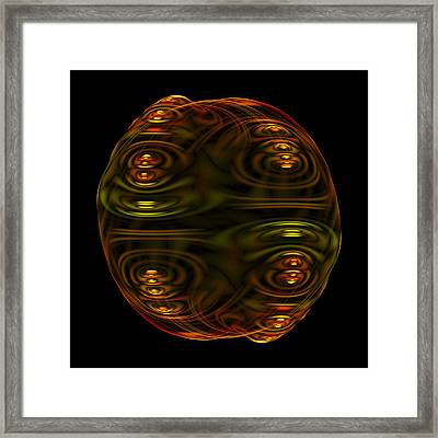 Emulsion II Fractal Framed Print by Denise Beverly
