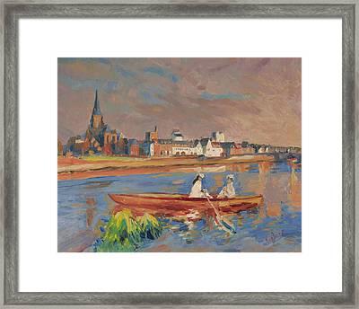 En Bateau De Renoir Sur La Meuse A Maestricht Framed Print