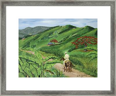 En El Campo A Caballo Framed Print