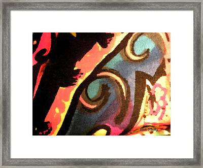Framed Print featuring the mixed media En Joy Ll by Sandi OReilly