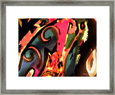 Framed Print featuring the mixed media En Joy by Sandi OReilly