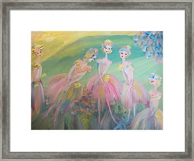 En Plein Air Ballet Framed Print