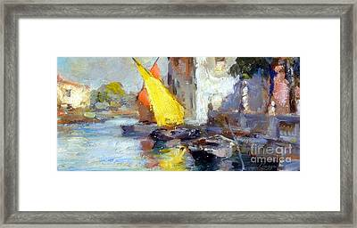 En Plein Air In Venice Framed Print