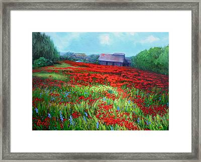 en route to Arles Framed Print by Patricia Reed