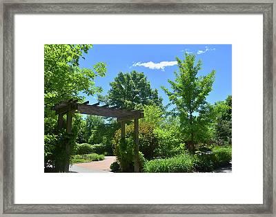 Enabling Garden Entrance Framed Print