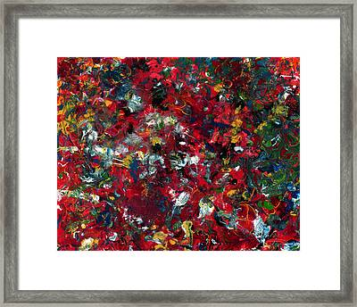Enamel 1 Framed Print by James W Johnson