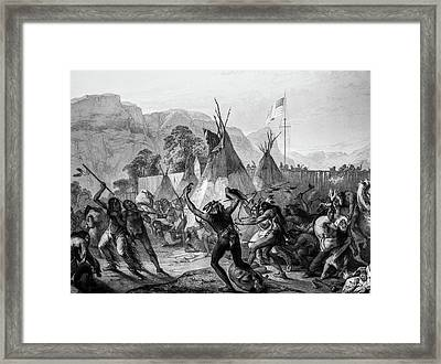 Encampment Of Piekann Native Americans Framed Print