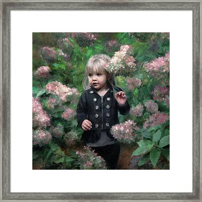 Enchanted Blossoms Framed Print by Anna Rose Bain