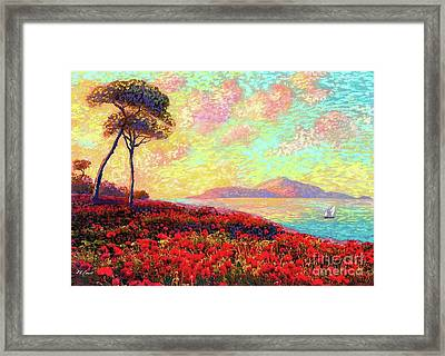 Enchanted By Poppies Framed Print by Jane Small