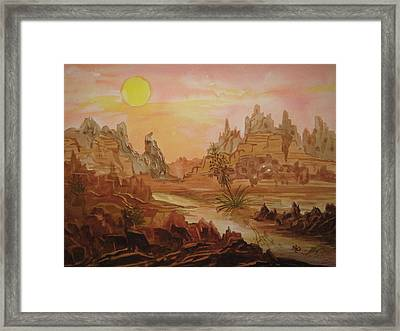 Enchanted Desert Framed Print