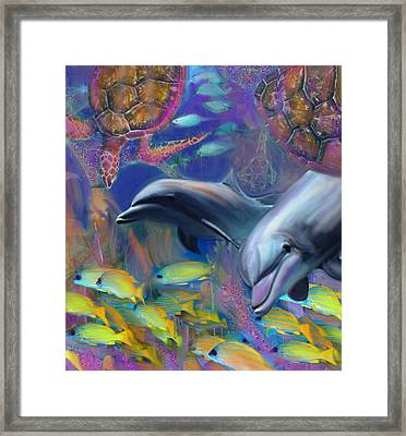 Enchanted Dolphins Framed Print