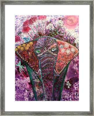 Enchanted Elephant Framed Print
