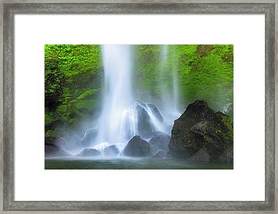 Framed Print featuring the photograph Enchanted Elowah by Mike Lang